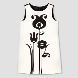 Toddler Girls' Black and White Mod Shift Tulip Print Dress - Victoria Beckham for Target