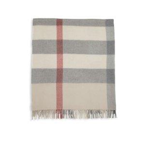 Baby's Merino Wool Check Blanket