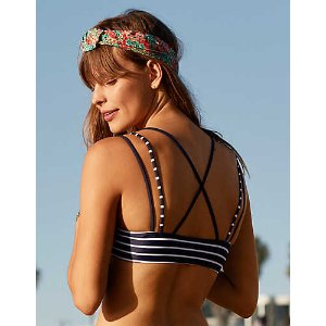 Aerie Scoop Strappy Bikini Top , Basic Navy | Aerie for American Eagle