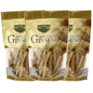 American Ginseng Root Small 8oz bag x 3