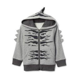Dinosaur zip hoodie