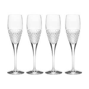 Mikasa® Diamond Sky Set of 4 Crystal Flute Glasses
