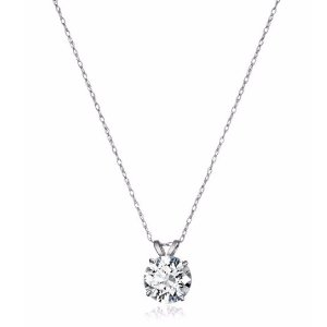 $26.77再降:10k 白金 施华洛世奇 Zirconia 2克拉水晶项链