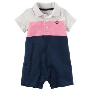 Baby Boy Colorblock Piqué Polo Romper | Carters.com
