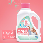 Dreft Stage 2: Active Hypoallergenic Liquid Baby Laundry Detergent (HE) 50 Ounces 2 Count