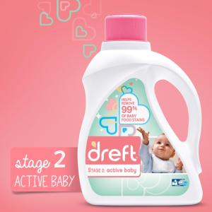 $15.45 包邮Dreft 第二阶段 高效洗衣机 宝宝洗衣液 1.47L 2瓶