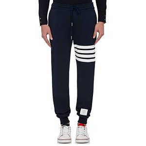Thom Browne Block-Striped Cotton Sweatpants | Barneys New York