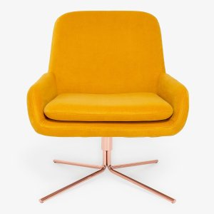Softline Swivel Square Chair Yellow