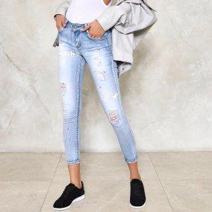 Graffiti Heart Skinny Jeans | Shop Clothes at Nasty Gal!