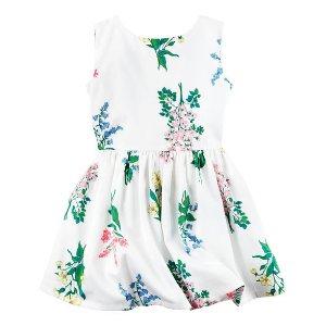 Sateen Floral Dress
