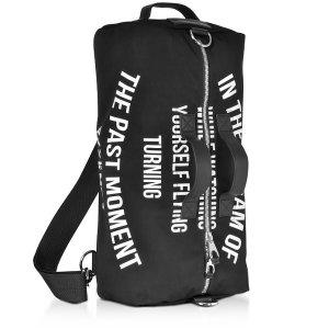 McQ Alexander McQueen Black Canvas Gym Bag