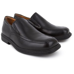 Geox Frederico Black Leather Slip on Loafer | AlexandAlexa