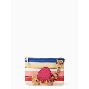 on purpose embroidered camel clutch | Kate Spade New York
