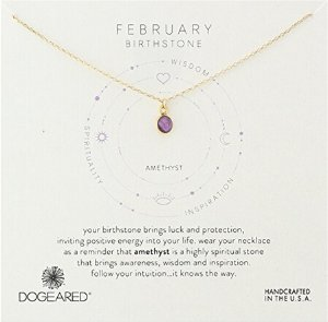 $19.59Dogeared Sterling Silver Bezeled Birthstone Pendant Necklace, 16
