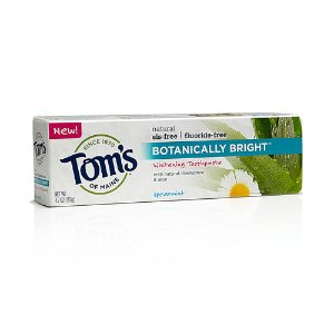 Tom's of Maine Botanically Bright Whitening Natural Toothpaste Spearmint -- 4.7 oz