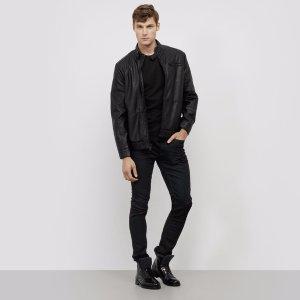 Stand Collar Moto Jacket
