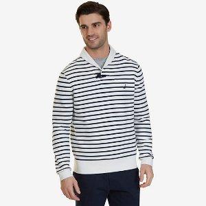 Striped Shawl Collar Sweater