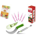 KitchWhiz - Premium Watermelon Slicer - Stainless Steel Watermelon Knife with Melon Baller & Avocado Slicer For Hassle free Juicy slices and fruit decoration - BONUS Salads & Fruit Ideas E-Book