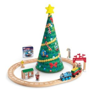 Thomas & Friends Wooden Railway Thomas Christmas Wonderland Set | CDR03 | Fisher-Price