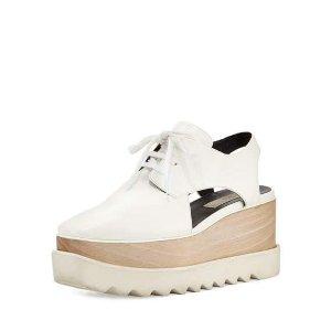 Stella McCartney Elyse Cutout Platform Oxford, White