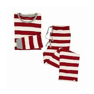 Mens Organic Rugby Stripe Pajama Set