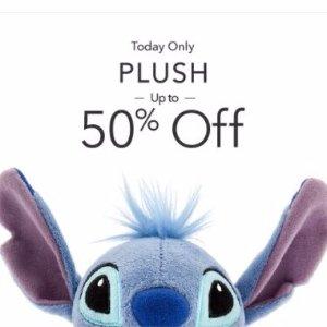 Up to 50% OffPlush Sale @ disneystore
