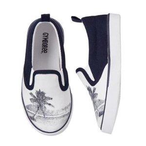 Boys White Palm Sneakers by Gymboree