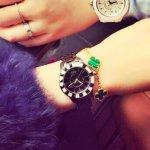 DIOR VIII Automatic Diamond Black Ceramic Ladies Watches 2 styles