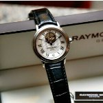 RAYMOND WEIL 2827-STC-00659 MEN'S MAESTRO AUTOMATIC OPEN BALANCE WHEEL WATCH