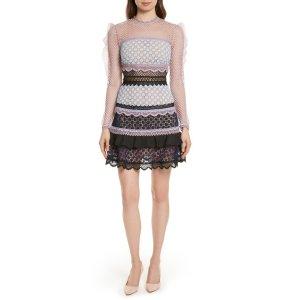 Bellis Frill Lace Dress