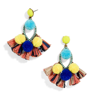 Romy Pom Pom Drop Earrings | BaubleBar