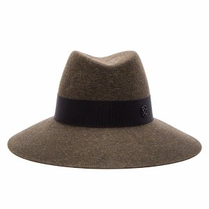 Maison Michel Kate Hat in Military Green | FWRD