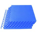 ProSource Puzzle Exercise Mat, EVA Foam Interlocking Tiles, Protective Flooring