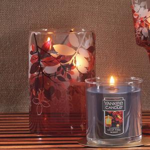 Crimson Autumn Tea Light Candle Holder - Yankee Candle