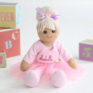 Personalized Alicia Ballerina Rag Doll