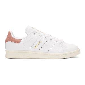 adidas Originals x Pharrell Williams - White & Pink Stan Smith Sneakers