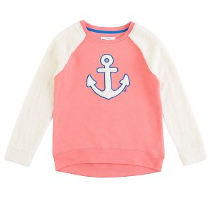 Girls' Fuzzy Anchor Pullover (8-16) - New Pink | Nautica