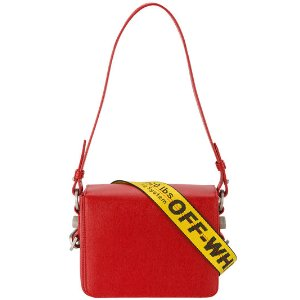 Red warning tape shoulder bag