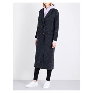 Driggs double-breasted wool-blend coat