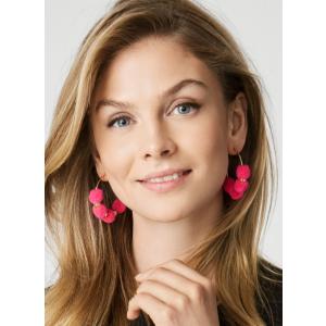Havana Pom Pom Earrings | BaubleBar