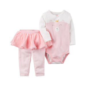 Baby Girl 2-Piece Bodysuit & Tutu Pant Set | Carters.com