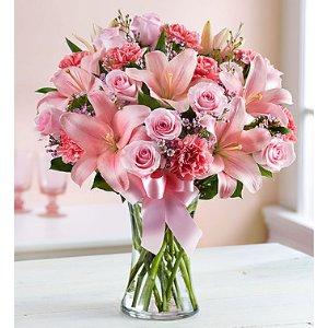 玫瑰百合康乃馨花束 Large
