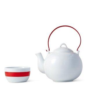 Red Spin 5-Piece Tea Set