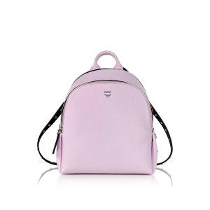 MCM Pink Leather Polke Studs Mini Backpack