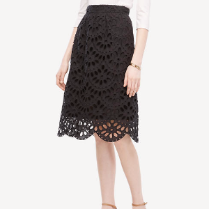 Scallop Eyelet Full Skirt | Ann Taylor