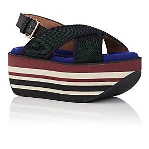 Marni Crisscross-Strap Wedge Sandals   Barneys Warehouse