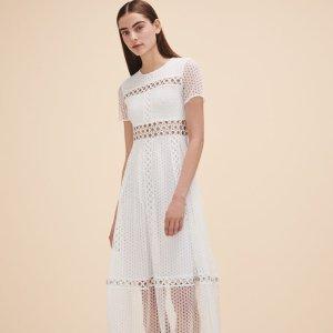 ROME Long embroidered dress - Dresses - Maje.com