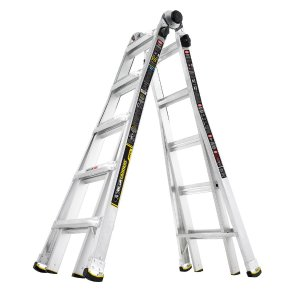Gorilla Ladders 22 ft. MPX Aluminum Telescoping Multi-Position Ladder with 375 lb. Load Capacity Type IAA Duty Rating-GLA-MPX22 - The Home Depot
