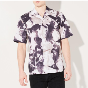 HORIZON SHIRT INK GREY TIE DYE | Steven Alan