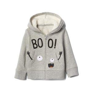Halloween boo zip hoodie